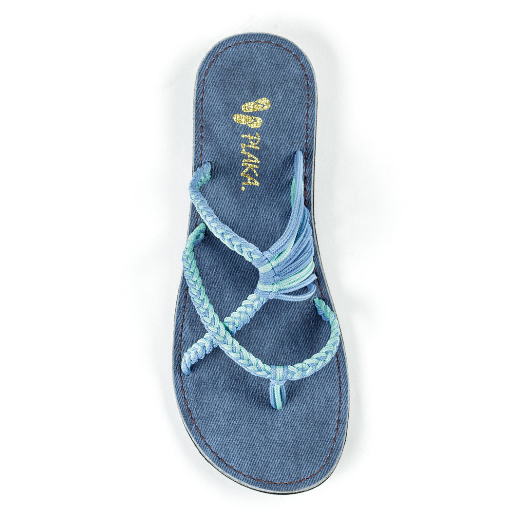 Oceanside Beach Flip Flops for Women | Cornflower