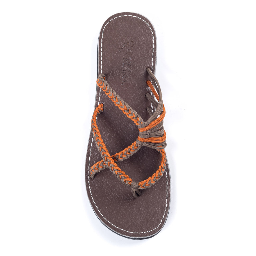 Oceanside Beach Flip Flops for Women | Orange Gray