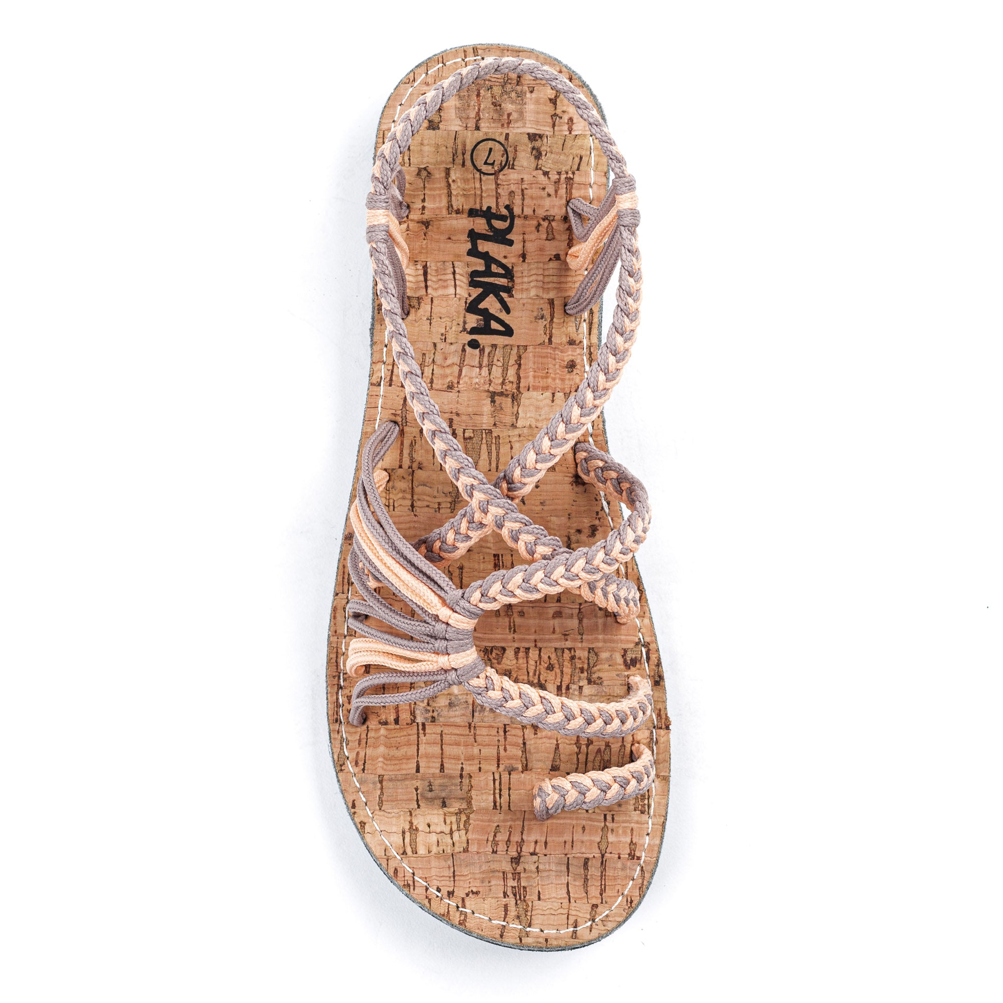 Palm Leaf Flat Women's Sandals |  Peach Sand