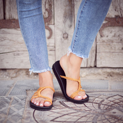 Relief Flip Flops for Women with Arch Support | Yellow