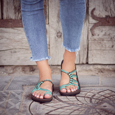 Relief Flip Flops for Women with Arch Support | Turquoise Gray