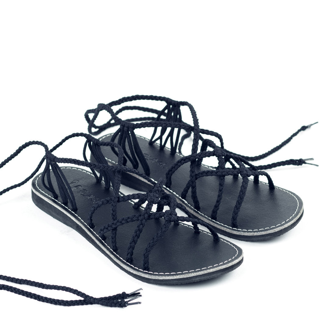 Sahara Gladiator Sandals Women | Classic Black