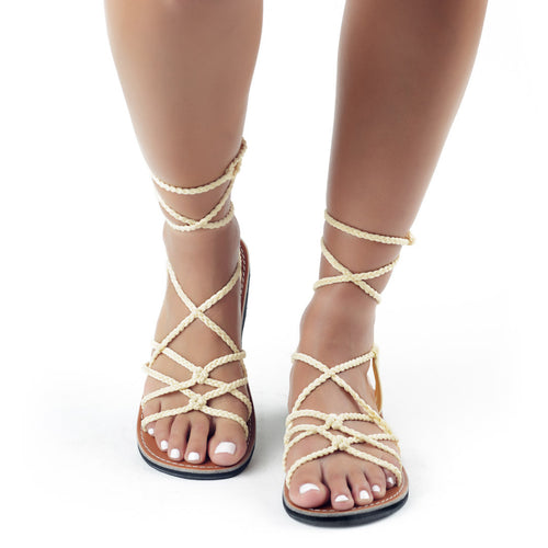 Sahara Gladiator Sandals Women | Sweet-Ivory