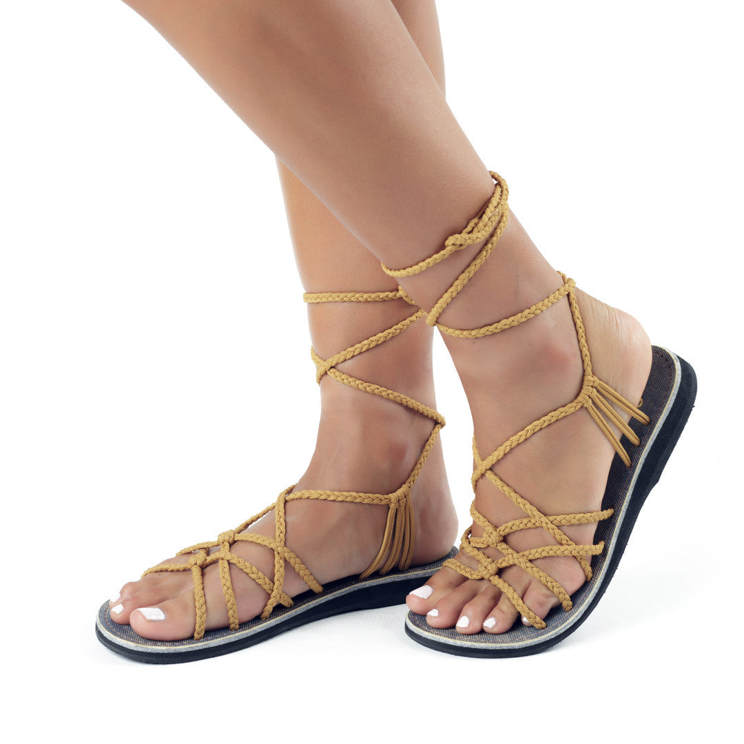 Sahara Gladiator Sandals Women | Sand-Yellow