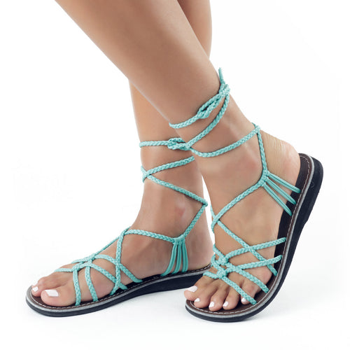 Sahara Gladiator Sandals Women | Turquoise