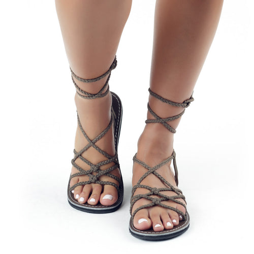 Sahara Gladiator Sandals Women | Taupe