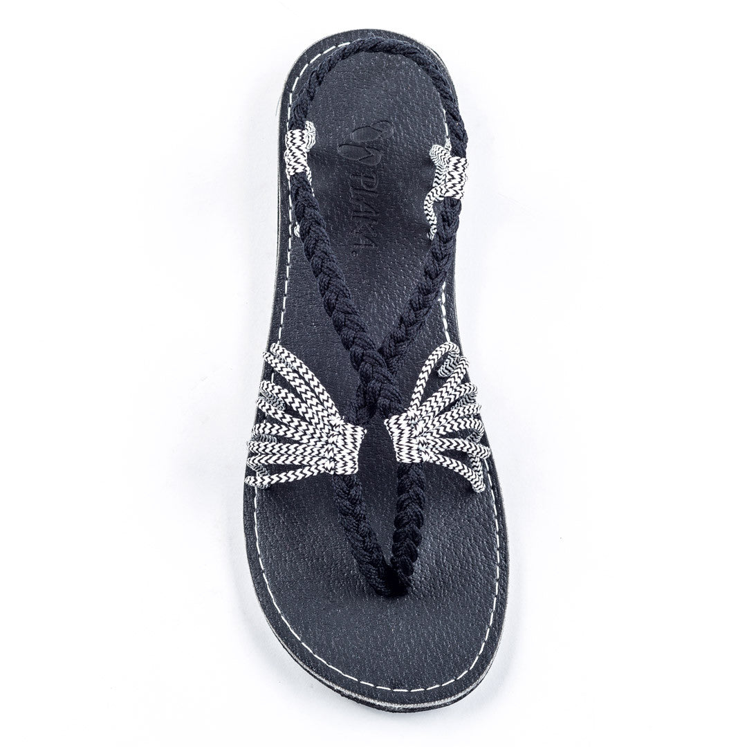 Seashell Summer Sandals for Women | Black-Zebra
