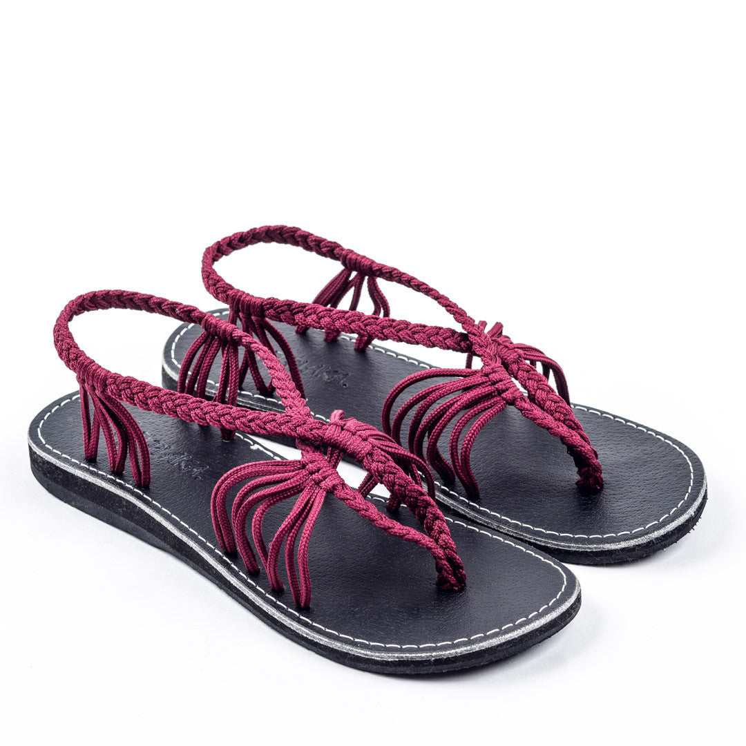 Seashell Summer Sandals for Women | Sunset Sangria