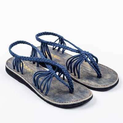 Seashell Summer Sandals for Women | Sapphire-Blue