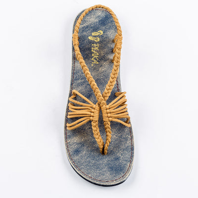 Seashell Summer Sandals for Women | Sand-Yellow