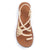 Palm Leaf Flat Women's Sandals | Sweet-Ivory