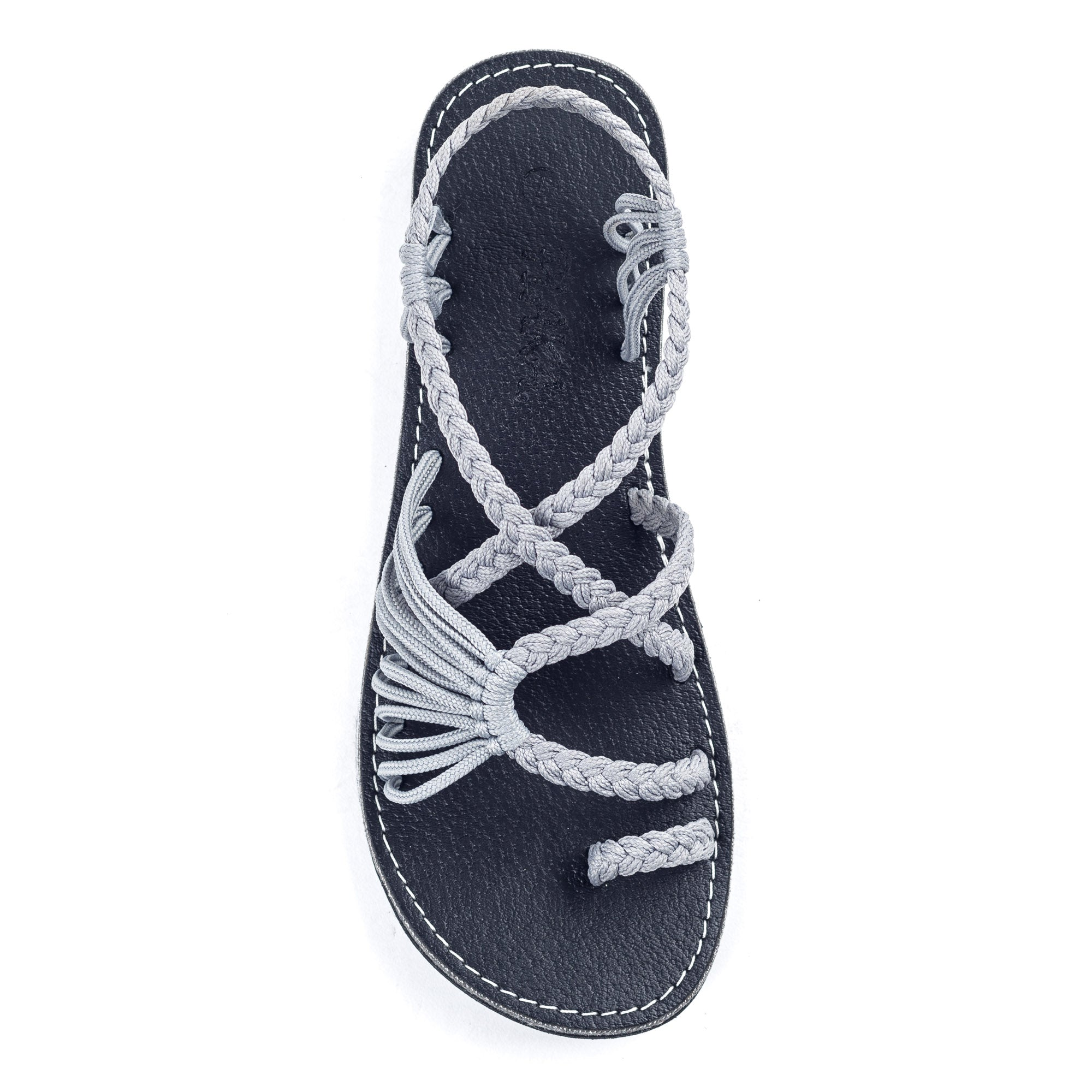 Palm Leaf Flat Women's Sandals | Urban Gray