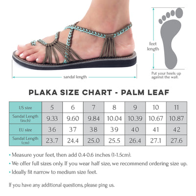 Palm Leaf Flat Women's Sandals | Brazilian Sand