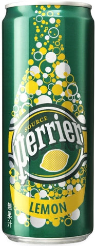 Perrier (Lemon Sparkling Mineral Water 250ml x 30 Cans)