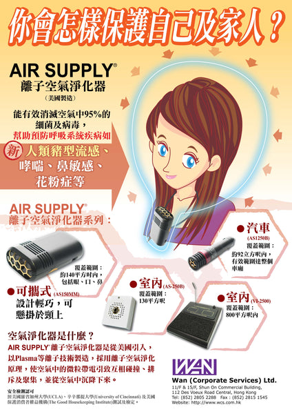 Air Supply - 800 Sq Foot Room Air Purifier