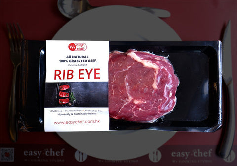 Ribeye Steak, Grass-Fed Beef, Easychef