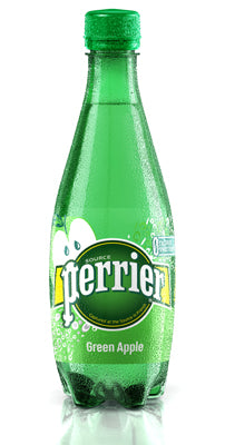 Perrier (Green Apple Sparkling Mineral Water 500ml x 24 Pets)