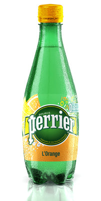 Perrier (Orange Sparkling Mineral Water 500ml x 24 Pets)