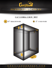 Gorilla Grow Tent 5x9 makes set up and use easy for an indoor soil or hydroponic grow tent system.