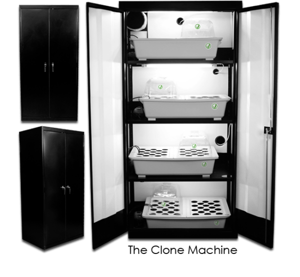 The SuperCloset Clone Machine is the premier automated hydroponic indoor grow cabinet for germination and cloning and comes fully assembled, perfect for developing new life.