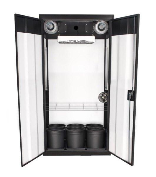 The SuperCloset LED Soil Grow Box Cabinet-The SuperFlower 3.0 is a fully automated turn-key indoor soil grow kit that gives amazing results and high yields.