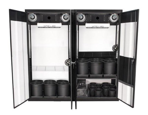 For maximum output, the biggest and best complete indoor grow system is the SuperCloset LED Soil Grow Box Cabinet-The SuperTrinity 3.0, which is the way to go to maximize growing time and yields.