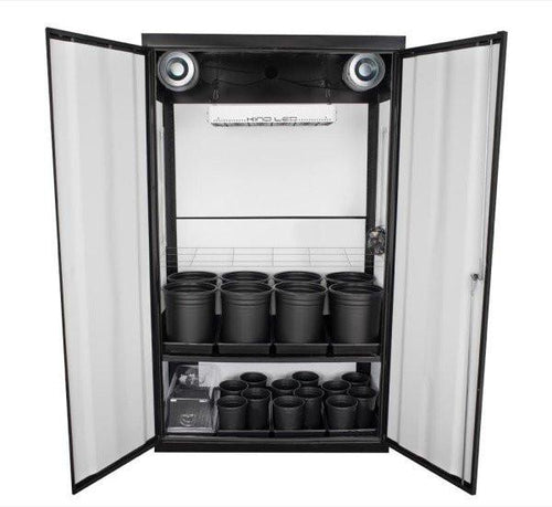 The SuperCloset LED Soil Grow Box Cabinet-SuperNova 3.0 has to be one of the best complete indoor grow kits on the market for organic growing of a sustainable garden.