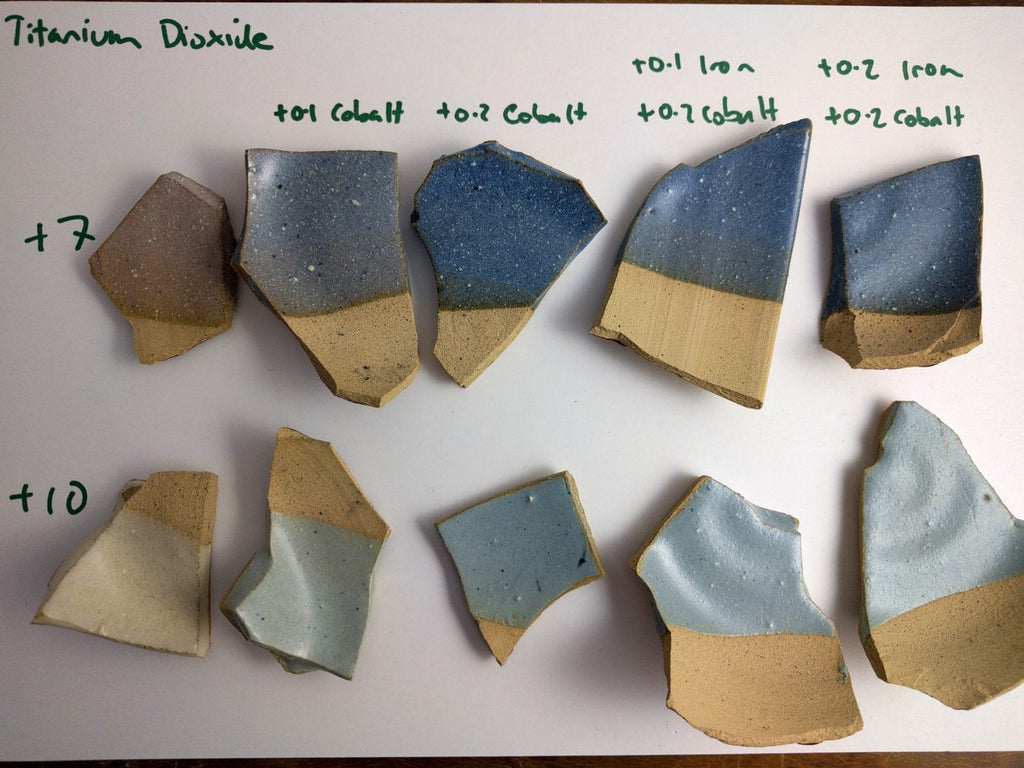 Comparison of glaze opacifiers and developing dusty blue glaze