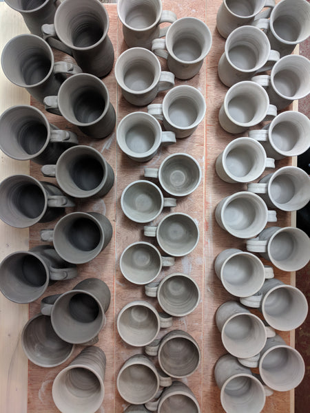 Pottery in production