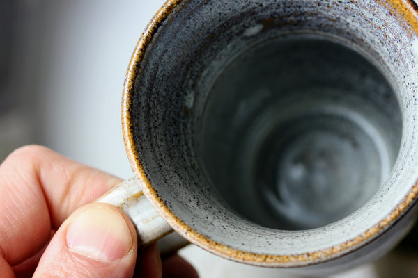 Inside of empty Handmade mug