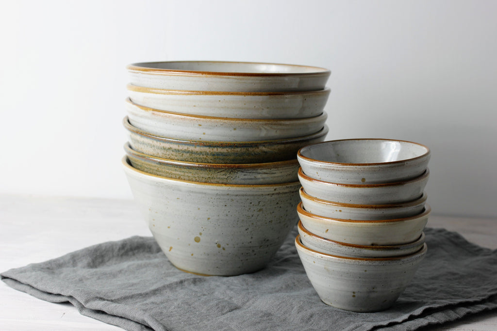 Pottery Small and Large Bowls
