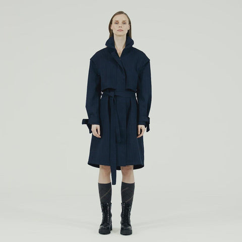 Tåke Coat - Blue Tweed