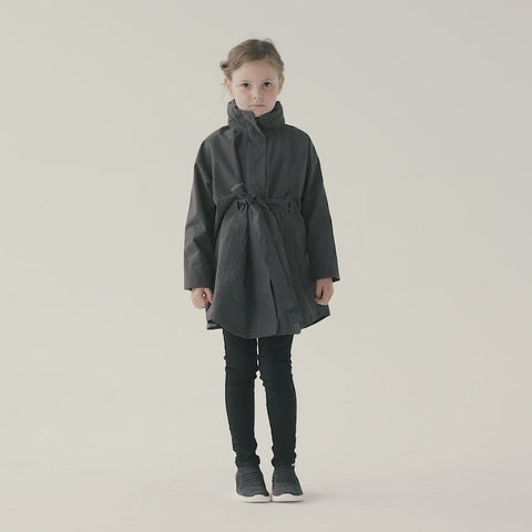 Kids Bris Poncho - Charcoal