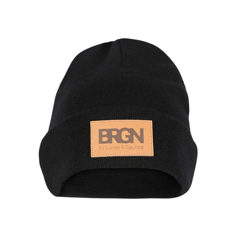BRGN by Lunde & Gaundal Heit Unisex beanie Accessories 099 Caviar Black