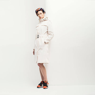 BRGN by Lunde & Gaundal Lun Coat Coats 010 White Putty