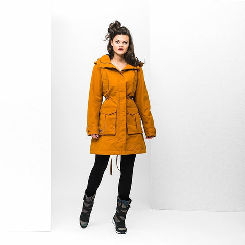 BRGN by Lunde & Gaundal Skur Parkas Coats 270 Thai Curry