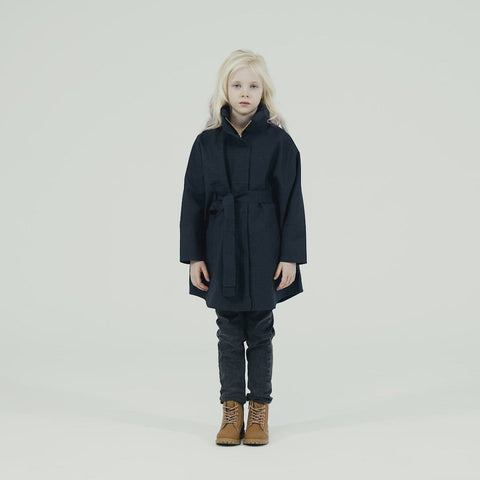Kids Bris Poncho - Dark Navy