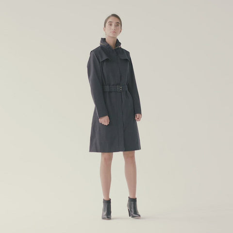 Lun Coat - Dark Navy