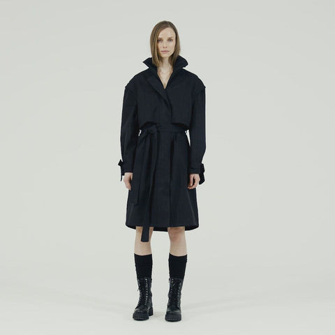 Tåke Coat - Black Tweed