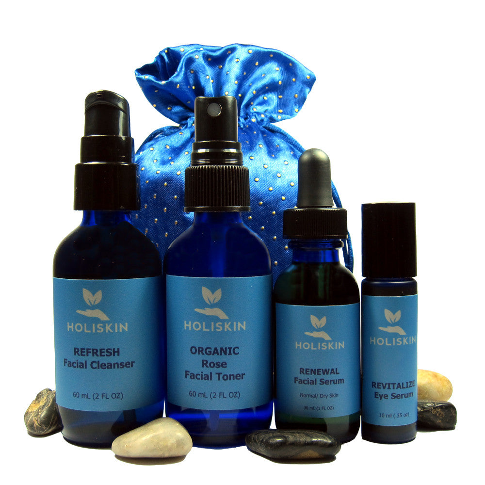 Natural Skin Care Set for Dry Mature Skin