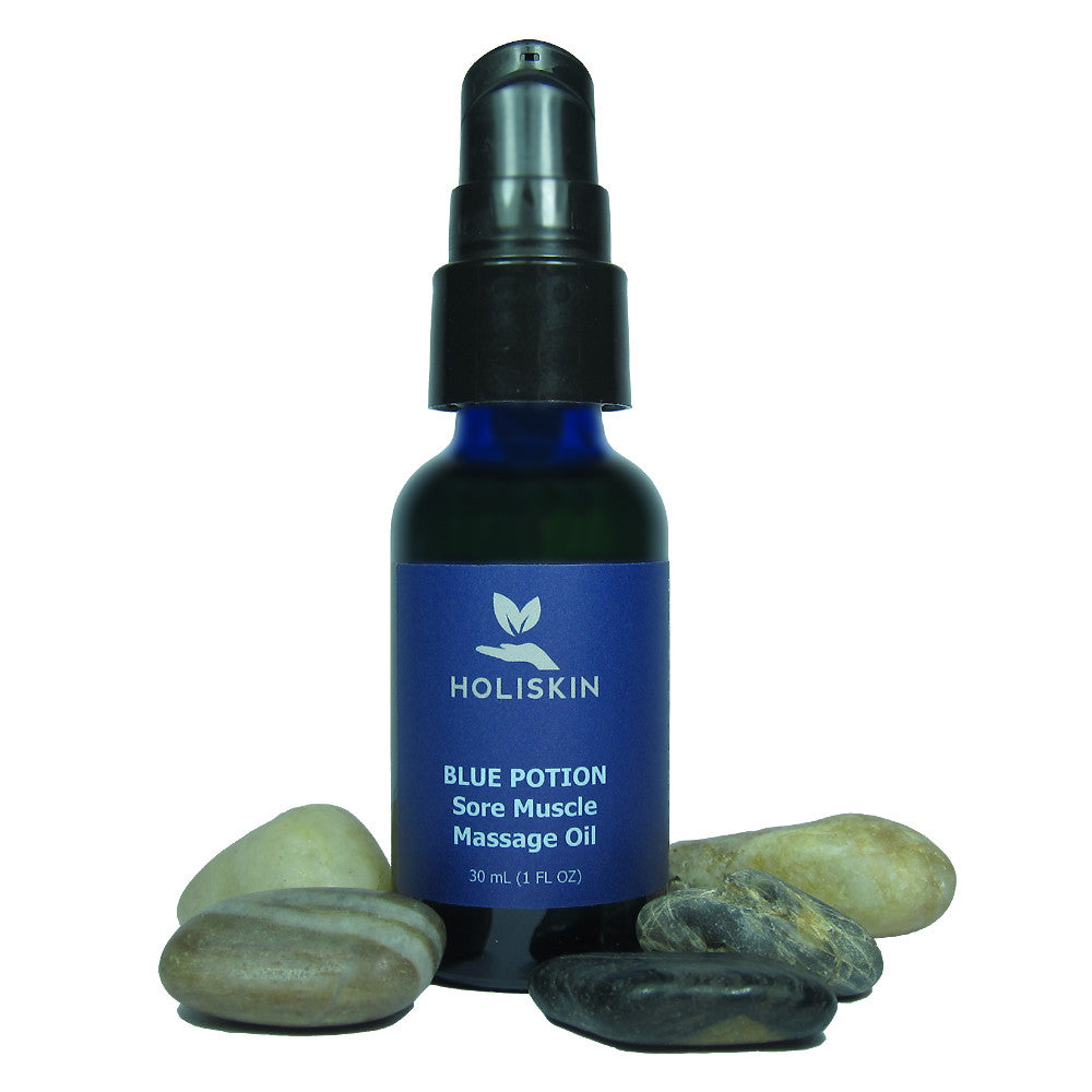 FREE Blue Potion Sore Muscle Massage Oil