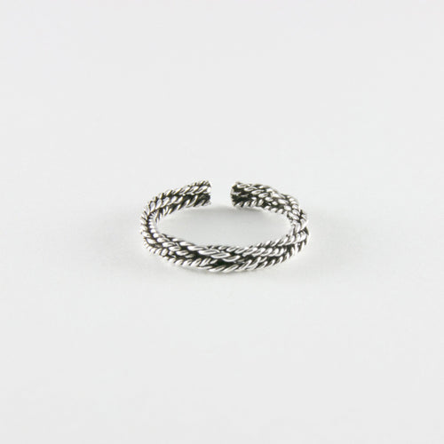 Twist & Braided Toe Ring