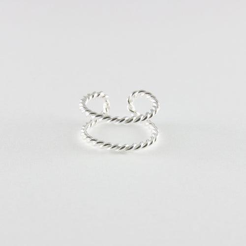 Double Twist Toe Ring
