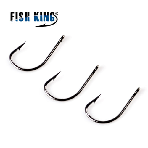 FISH KING 50pcs/lot TOMARU Fishing Hook With Ringed 3#-12# Barbed Hook Carp Feeder Anzol Fishhook Jig Hook From Japan - Discount Fishing Tackle