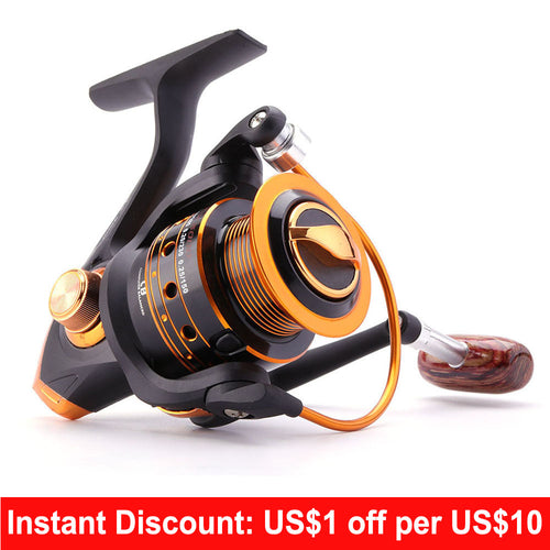 Spinning Fishing Reel 12BB + 1 Bearing Balls 500-9000 Series Metal Coil Spinning Reel Boat Rock Fishing Wheel - Discount Fishing Tackle