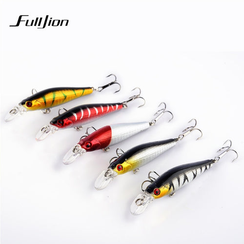 Fishing Lures Minnow Hard Wobblers Crankbait 3D Eyes Gold-plated Plastic Laser Reflective Baits Winter Fishing Decoy Tools - Discount Fishing Tackle