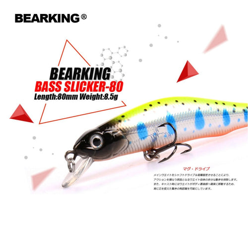 Retail A+ fishing lures, assorted colors, minnow crank  80mm 8.5g,magnet system. bearking 2016 hot model crank bait - Discount Fishing Tackle