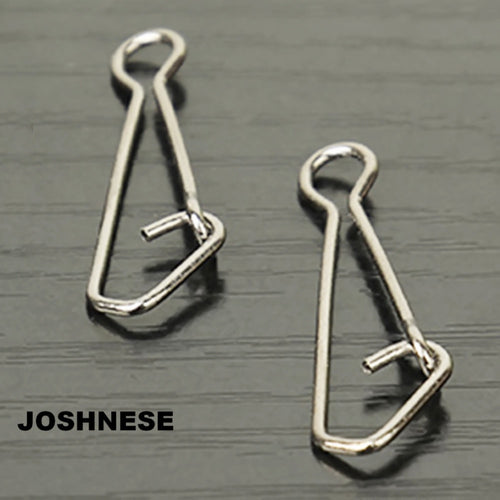 JOSHNESE Brand New 50pcs/pack QL Hooked Snap Swivel Stainless Steel Fishing Swivels Hook Lure Connector Fish Tackle - Discount Fishing Tackle