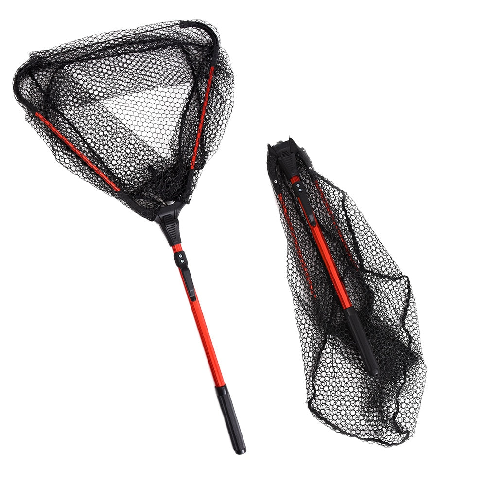 Telescoping Fishing Net Pesca Foldable Landing Net Pole Brail Landing Net Nylon Fish Net Aluminum Alloy Frame Carp Fishing Lures - Discount Fishing Tackle