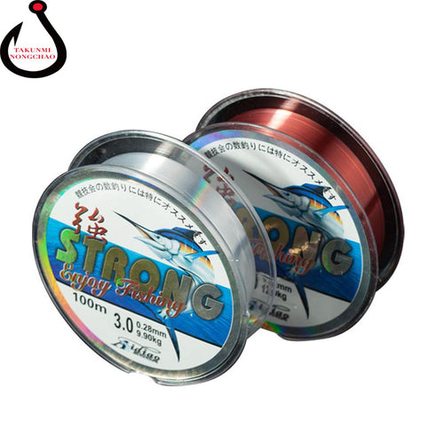 Brand 100M Monofilament Nylon Ice Fishing Line Rope WireHigh Quaility Material Fishing Accessories  Equipment YG-07 - Discount Fishing Tackle